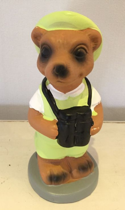 Safari Sightseeing Meerkat Money Bank - Lime Green